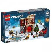 Конструктор Лего Криейтър - Зимна пожарна команда в селото, LEGO Creator Expert, 10263