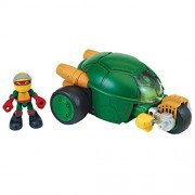 Teenage Mutant Ninja Turtles Pre-Cool Half Shell Heroes Stealth Cycle with Raphael Vehicle and Figure