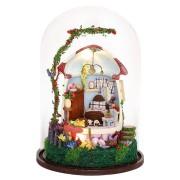 iiecreate GN04 Mushroom Romance DIY Doll House Miniature Furniture Kit Music LED Light Kids Gift