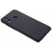 Carbon Hardcase Backcover voor Huawei P20 Lite - Zwart