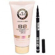 ADS BB Cream (SPF-20) with ADS sketch eyeliner pack of 2