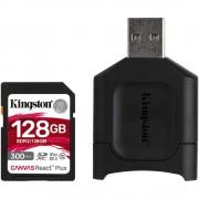 Kingston Canvas React Plus Card SD 128GB UHS-II + Cititor de Carduri MobileLite Plus - Kingston Canvas React Plus Card SD 128GB UHS-II + Cititor de Carduri MobileLite Plus
