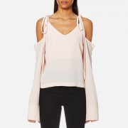 House of Sunny Women's Cold Shoulder Top - Baby - UK 8 - Pink