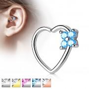 Piercing do nosu/ucha ve tvaru srdce RXH03