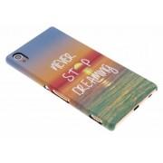 Never stop dreaming design hardcase hoesje voor de Sony Xperia Z3 Plus