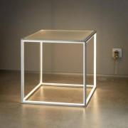 Sompex LED-Stehleuchte Delux, 12 W, Warm-Weiß, Würfel 42 x 42 x 42 cm