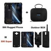 """DOOGEE s90-6.18 """"FHD + 4G smartphone al aire libre, 5050mah IP68 / IP69K resistente al agua / a prueba de polvo y a prueba de golpes, helio P60 6GB + 128GB, 16MP + Classic + 8MP Camera, un modo de juego / Wireless"""