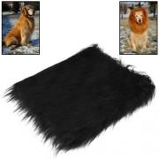 Large Pet Dog Cat Lion Wigs Mane Hair Festival Party Fancy Dress Clothes Costume (Black)