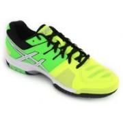 Asics Gel-Game 5 Men Tennis Shoes For Men(Yellow, White, Green)
