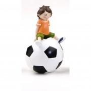 Figura Comunión Futbolista Hucha Sentado
