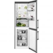 Combina frigorifica AEG RCB63326OX, No Frost, 298 l, Afisaj LCD pe usa Touch control, Clasa A++, H 185 cm, Inox antiamprenta