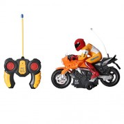 Archana NHR High Speed RC Bike, Remote Controlled Toy Police Motorcycle with Sound n Light (Yellow)