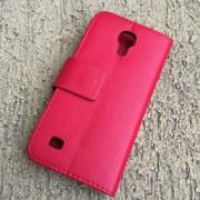 Toc Samsung Galaxy S4 Mini Husa Portofel Piele Eco Rosie