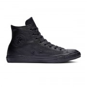 Converse All Stars Leather Hoog 135251C Zwart-35