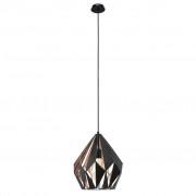 EGLO Carlton 1 49254 függőlámpa fekete-vörösréz
