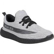 Koxko 1740 Transit Runner Light Grey Mesh Men's Casual Shoes Lace Up 6 UK