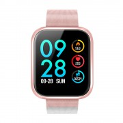 P70 1.3 inch IPS Color Screen Health Monitoring Fitness Tracking Smart Watch with Metal Strap - Rose Gold
