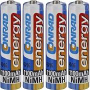 Set 4 acumulatori NiMH, AAA, 1,2 V, 1100 mAh, Conrad energy