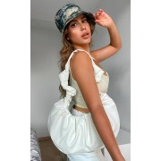 PrettyLittleThing Grand sac à main blanc effet froissé, Blanc - One Size