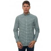 Gant Camicia casual Blu/verde Cotone Uomo