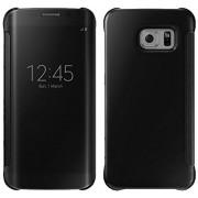 Clear View Cover voor Samsung Galaxy S7 Edge – Zwart