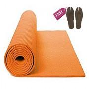 Yoga Mat 183 cm x 61 cm x 0.5 cm (Orange) Non-Slip Surface