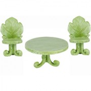 Wonderlnad Miniature fairy garden Leaf bistro wih table(9 x 8 x 7 cm)