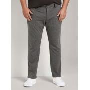 TOM TAILOR Slim fit broek in hanepoot patroon, grey houndstooth, 44/34