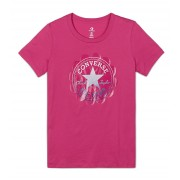 Converse Tricou pentru femei Converse Ombre Chuck Patch Short Sleeve Tee Active Fuchsia XS