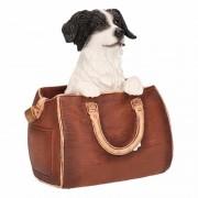 Geen Beeldje Border Collie hond in tas 11 cm - Action products