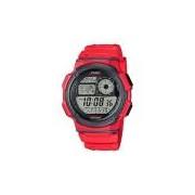 Relógio Casio Esportivo AE1000W4AVDF Vermelho World Time