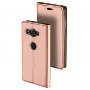 Capa Flip Dux Ducis Skin Pro para Sony Xperia XZ2 Compact - Rosa Dourado
