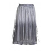 Deha Fusta Tulle Skirt B64156 Silver Lavander M