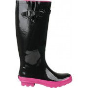 Cizme dama ploaie Coqui negru/roz