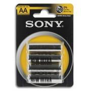 4 Batterie Sony AA Stilo