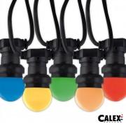 Calex 473450 LED partylyskæde 10mtr m/10 farvede kronepære