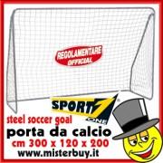 PORTA DA CALCIO REGOLAMENTARE CALCETTO cm 300x120x200h