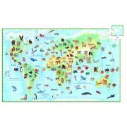 Puzzle observație Djeco Animalele lumii