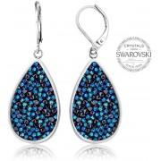 Levien Cercei frumoși cu cristale SS Rocks Pear 24 albastru bermuda