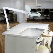 Lampa cosmetica cu lupa si iluminare LED, factor de marire 5X, brat articulat Lupa SV-249075