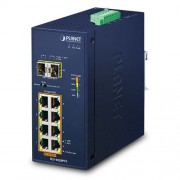 Planet Industrial 8-Port GbE 802.3at PoE (240W) 2-Port 100 1000X SFP Switch (-40~75 degrees C)