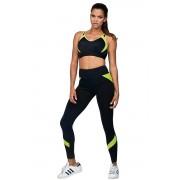 Colanți fitness Suzanne neon galben negru XL