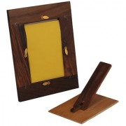Craft Art India Handmade Carved Wooden Photo Frame for Photos / Collage for Table