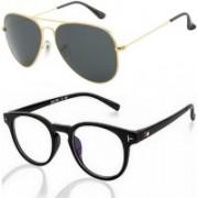 Ivonne Retro Square Sunglasses(Green, Clear)