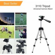 Tech Gear High Quality Tripod Flexible Tripod with Mobile Clip Holder Bracket Fully Flexible Mount Stand with 3D Head Quick Release Plate for Mobile DSLR Action Camera