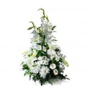 Interflora Centro Vertical em Tons de Branco Interflora