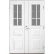 Dala Dörren Ytterdörr Monica 1390x2190mm höger gångdörr klarglas vit par spårfräst ab6324 (14x22)