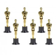 "Neliblu Pack of 6 Gold Award Trophies, 6"" Statues - Oscar Statues - Awards for Party Celebrations, Ceremony, Appreciation Gift, Sport Awards, Academy Awards, Awards for Teachers and Students."