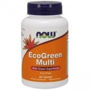 Еко грийн мулти - Eco Green Multi - 60 таблетки, NOW FOODS, NF3790