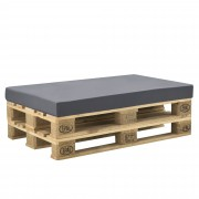 [neu.haus]® Калъф за възглавница за мебели от палети 120 x 80 x 10 cm Тъмносив
